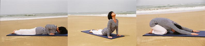 Yoga Yveline Crépeau plage tapis bannière